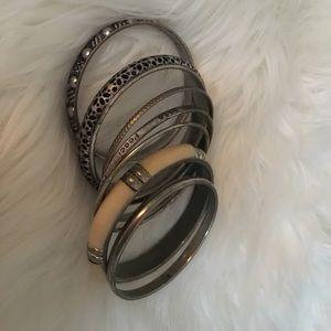 Silver Antique stained bracelet ensemble
